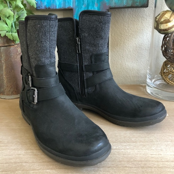 1d6d6dbf857 UGG Women's Simmens Boot Leather Boots In Black